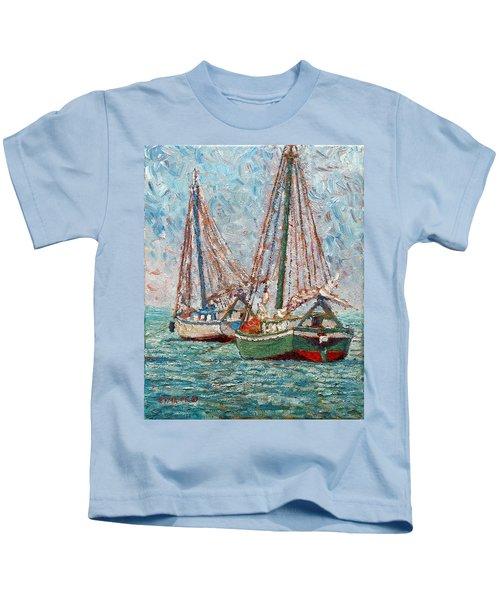 Twin Boats Kids T-Shirt