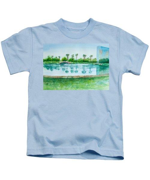 Two Bridges At Rainbow Lagoon Kids T-Shirt