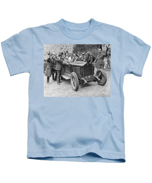 Two Men In An Essex Race Car Kids T-Shirt
