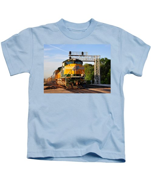 Union Pacific Chicago And North Western Heritage Unit Kids T-Shirt