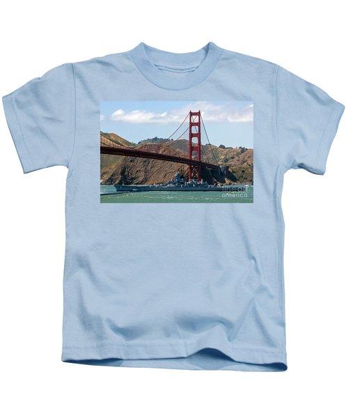 U.s.s. Iowa Up Close Kids T-Shirt