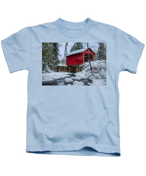 Vermonts Moseley Covered Bridge Kids T-Shirt