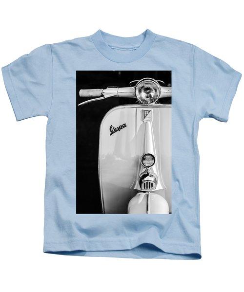 Vespa Scooter -0748bw Kids T-Shirt