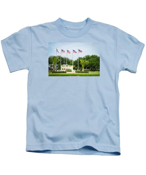 Veterans Memorial Laguna Vista Texas Kids T-Shirt