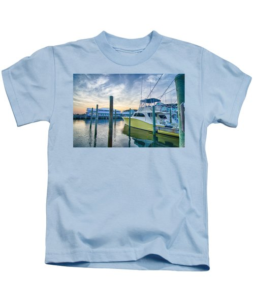 View Of Sportfishing Boats At Marina Kids T-Shirt