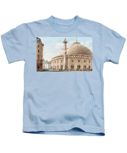 View Of The Grain Market And The Astronomical Column, Paris Kids T-Shirt