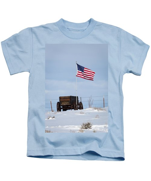 Wagon And Flag Kids T-Shirt