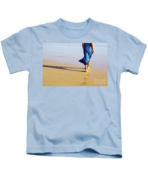 Walking On The Beach Kids T-Shirt