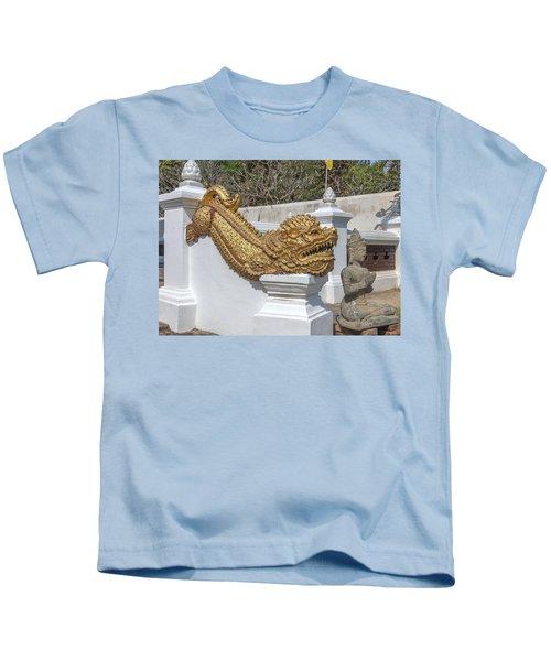 Wat Chedi Liem Phra Ubosot Gate Makara Dthcm0836 Kids T-Shirt