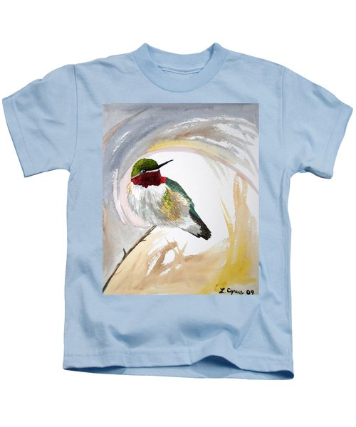 Watercolor - Broad-tailed Hummingbird Kids T-Shirt