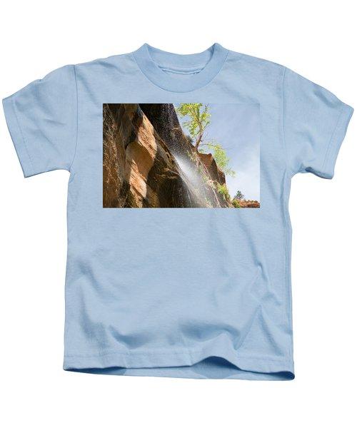 Waterfall Zion National Park Kids T-Shirt