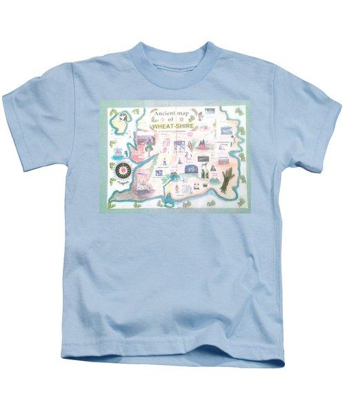 Wheatshires Aincient Map Kids T-Shirt