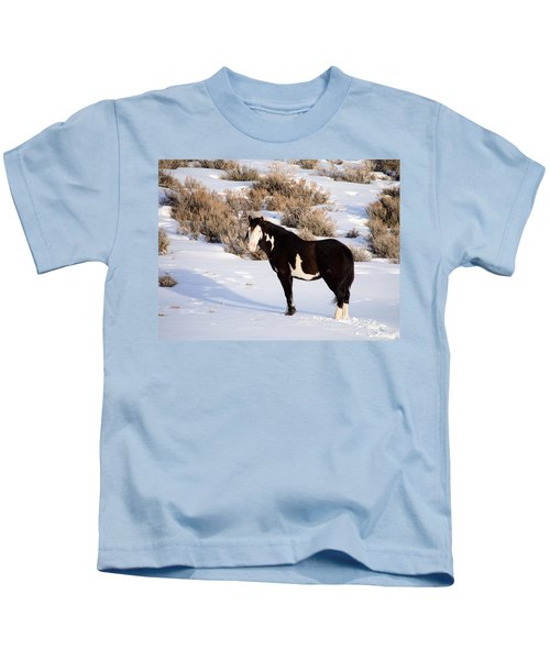 Wild Horse Stallion Kids T-Shirt