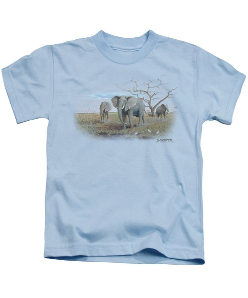 Wildlife - African Elephants Kids T-Shirt