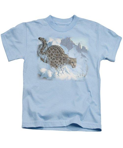 Wildlife - Snow Leopard Kids T-Shirt
