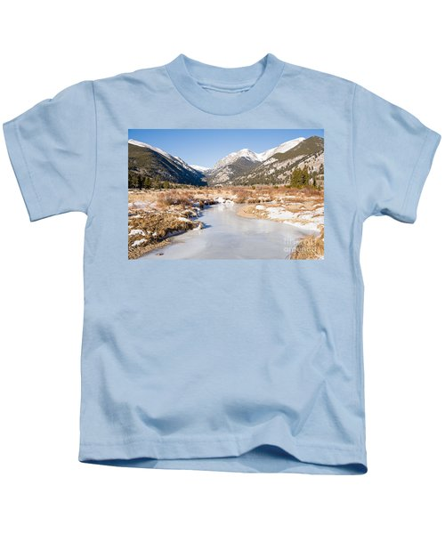 Winter At Horseshoe Park In Rocky Mountain National Park Kids T-Shirt
