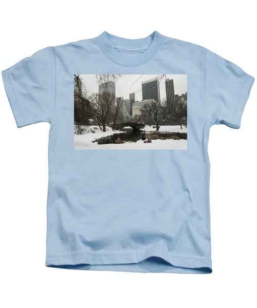 Winter In Central Park Kids T-Shirt