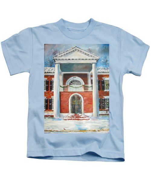 Winter Spirit In Dahlonega Kids T-Shirt