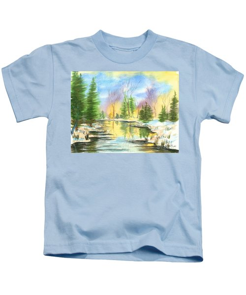 Winter Stillness Kids T-Shirt