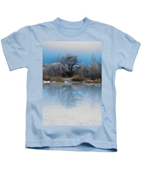 Winter Taking Hold Kids T-Shirt