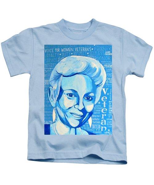 Woman Veteran Gabe Kids T-Shirt