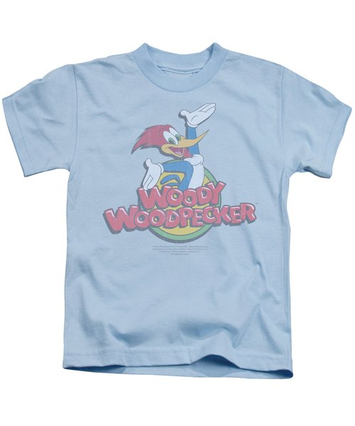 Woody Woodpecker - Retro Fade Kids T-Shirt by Brand A