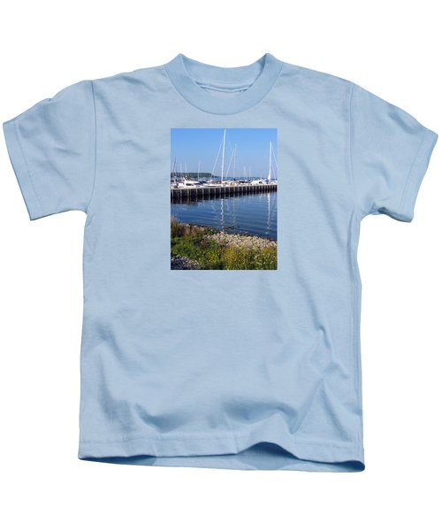 Yachtworks Marina Sister Bay Kids T-Shirt