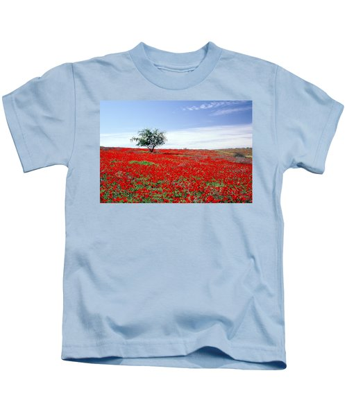 A Tree In A Red Sea Kids T-Shirt