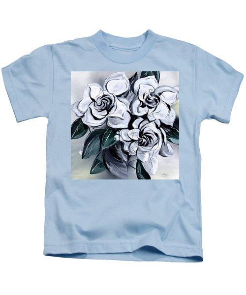 Abstract Gardenias Kids T-Shirt
