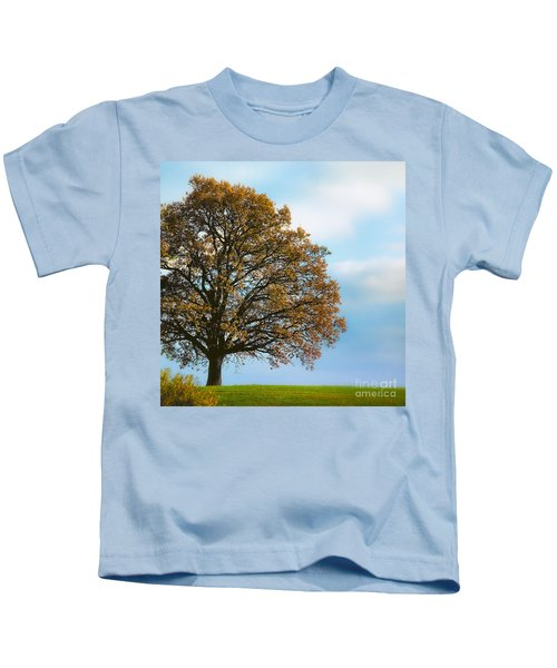 Alone On The Hill Kids T-Shirt