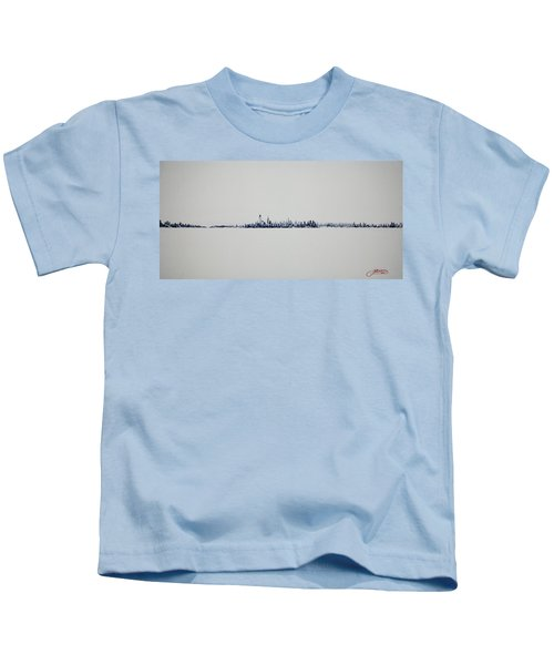 Autum Skyline Kids T-Shirt