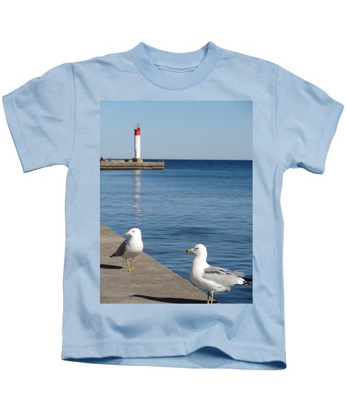 Bronte Lighthouse Gulls Kids T-Shirt