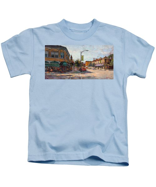 Caffe' Aroma In Elmwood Ave Kids T-Shirt