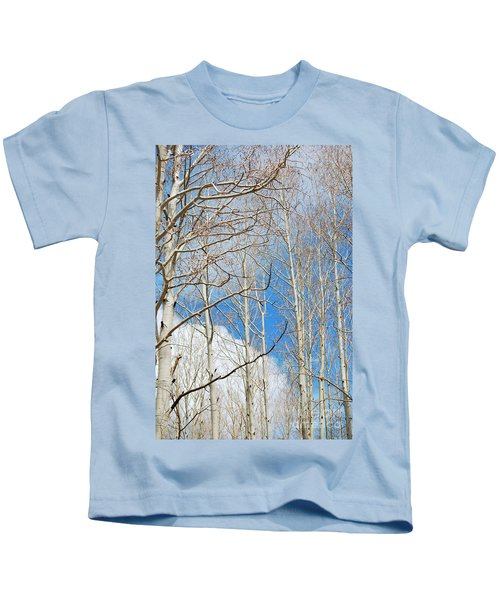 Cloudy Aspen Sky Kids T-Shirt