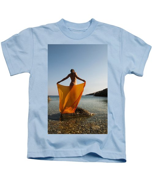 Girl With The Orange Veil Kids T-Shirt