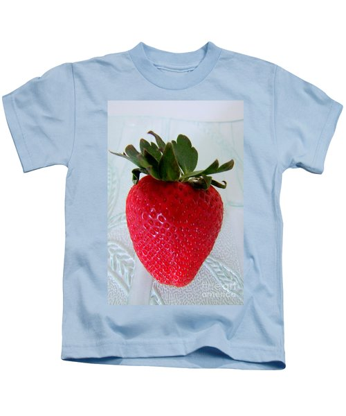 Hearty Red Strawberry Kids T-Shirt