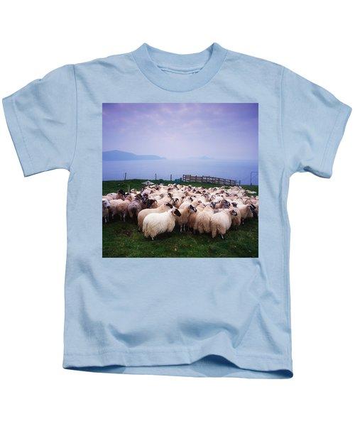 Herding Sheep, Inishtooskert, Blasket Kids T-Shirt