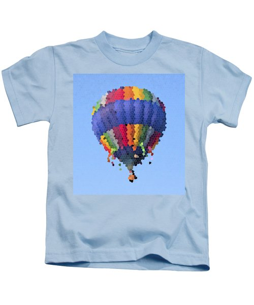 Hot Air Balloon In Stained Glass Kids T-Shirt