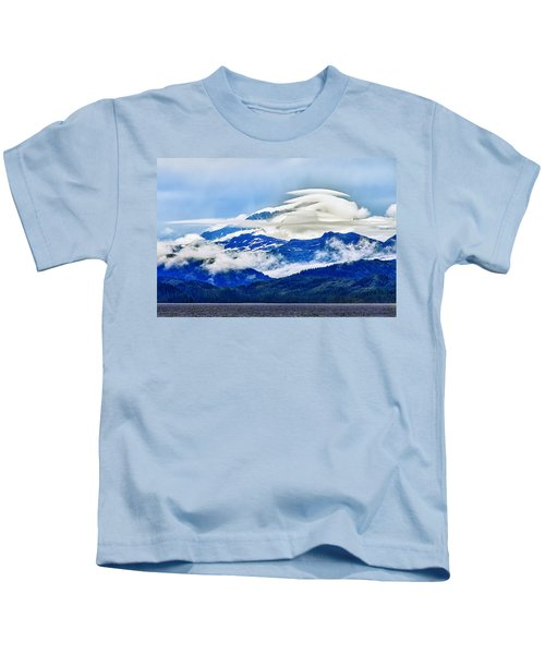 Lenticular And The Chugach Mountains Kids T-Shirt