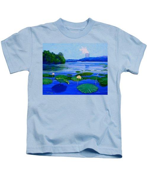 Modern Mississippi Landscape Kids T-Shirt