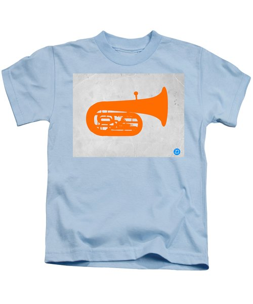 Orange Tuba Kids T-Shirt