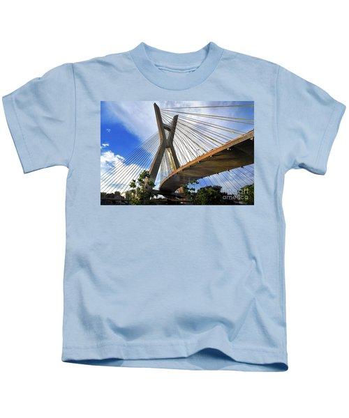 Ponte Estaiada Octavio Frias De Oliveira Ao Cair Da Tarde Kids T-Shirt