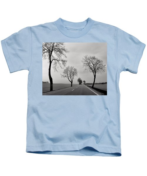 Road Through Windy Fields Kids T-Shirt
