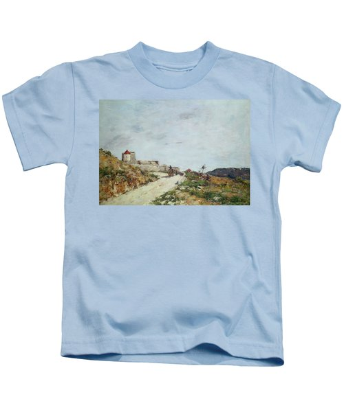 The Road To The Citadel At Villefranche Kids T-Shirt
