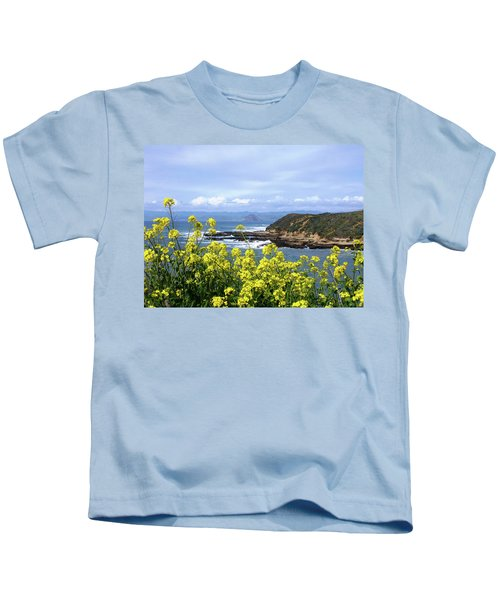 Through Yellow Flowers Kids T-Shirt