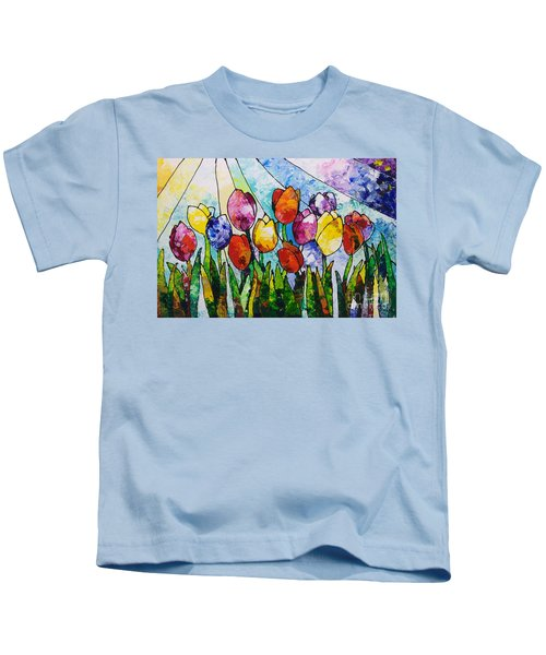 Tulips On Parade Kids T-Shirt