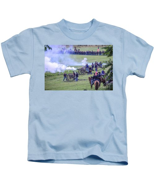 Gettysburg Union Artillery And Infantry 7439c Kids T-Shirt