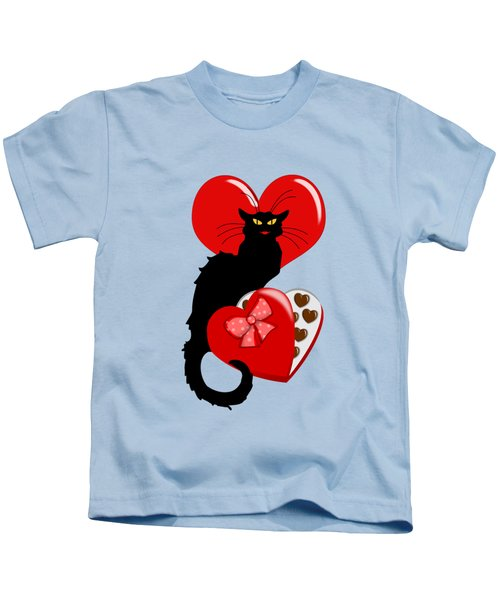 Le Chat Noir With Chocolate Candy Gift  Kids T-Shirt