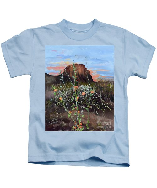 Arizona Desert Flowers-dwarf Indian Mallow Kids T-Shirt