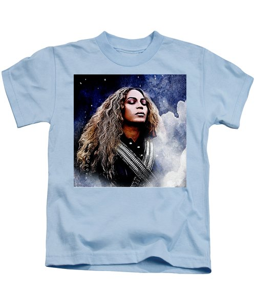 Beyonce  Kids T-Shirt by The DigArtisT